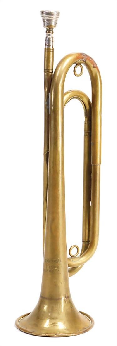 American signal trumpet, military, army, in f up to g,