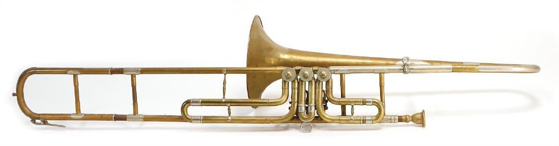 trombone (trombone with valve), 3 rotary valves,