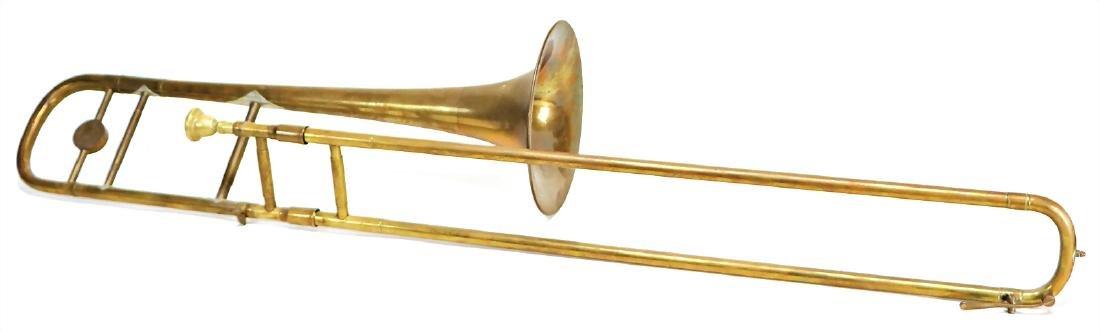 trombone, signature DOTZAUER, 1.14 m, brass, small