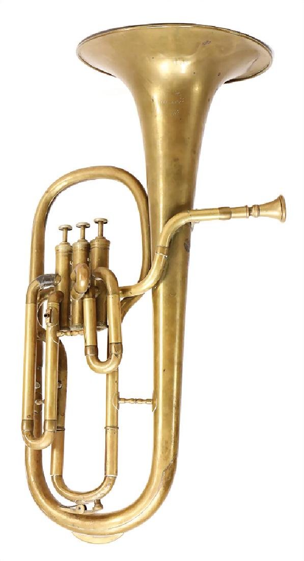 alto horn, from Mackenbach, shaped like a tuba,