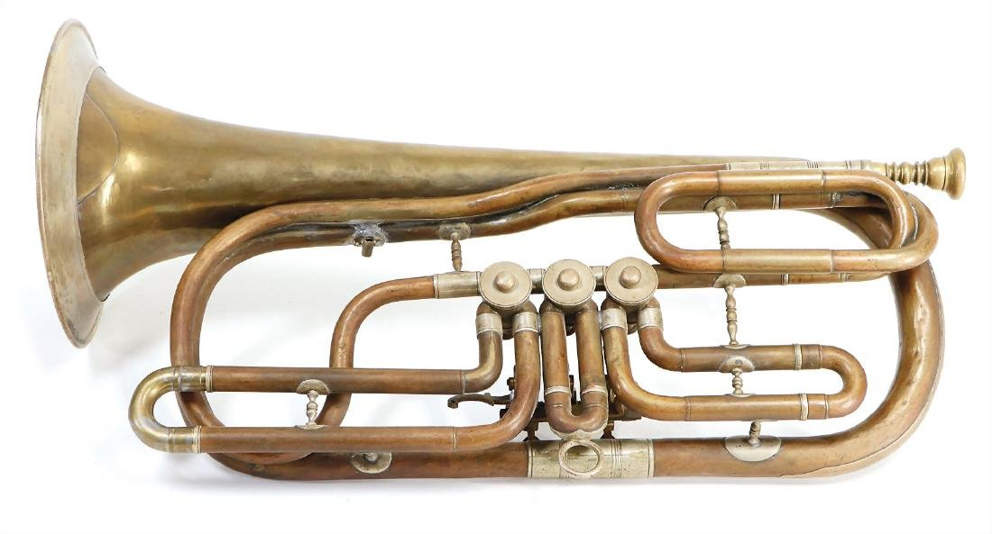 bass trumpet, tenor horn in C, with B tuning slide