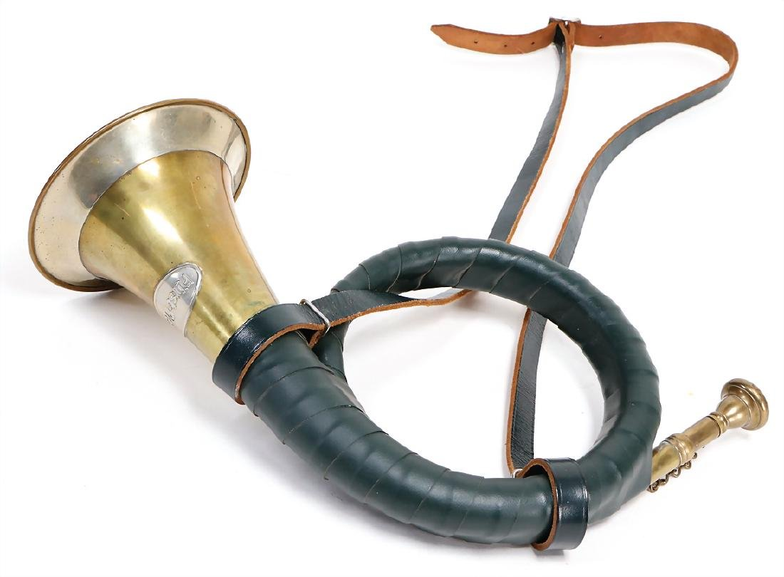 post horn, signed Fürst Pless, partially wrapped with