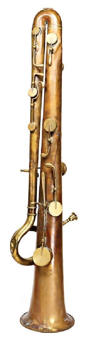 bass-ophicleide (keys-bass horn), France, c. 1840, c.