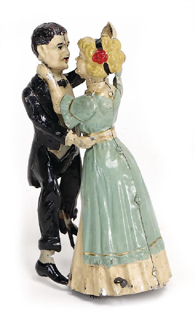 GÜNTHERMANN dancing couple, sheet metal, handpainted,