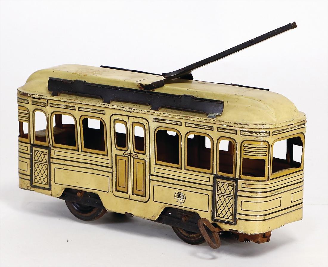 GÜNTHERMANN tram, 20 cm, lithographed sheet metal,