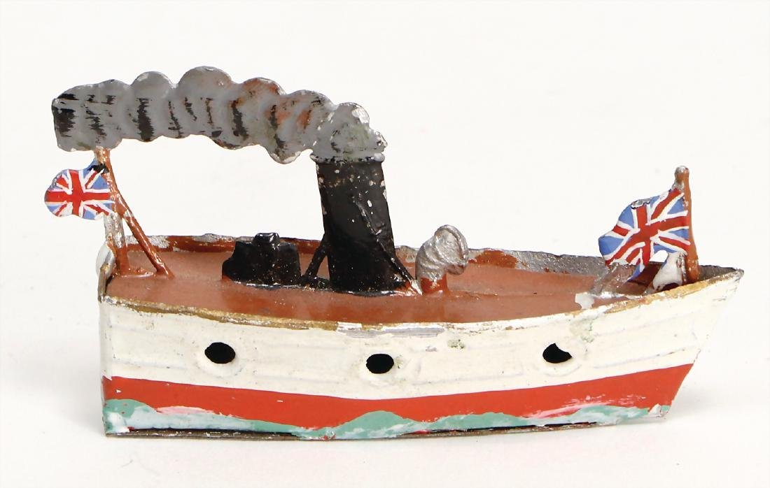 steamship, tin, 7.5 cm, 1 funnel, with small scratches