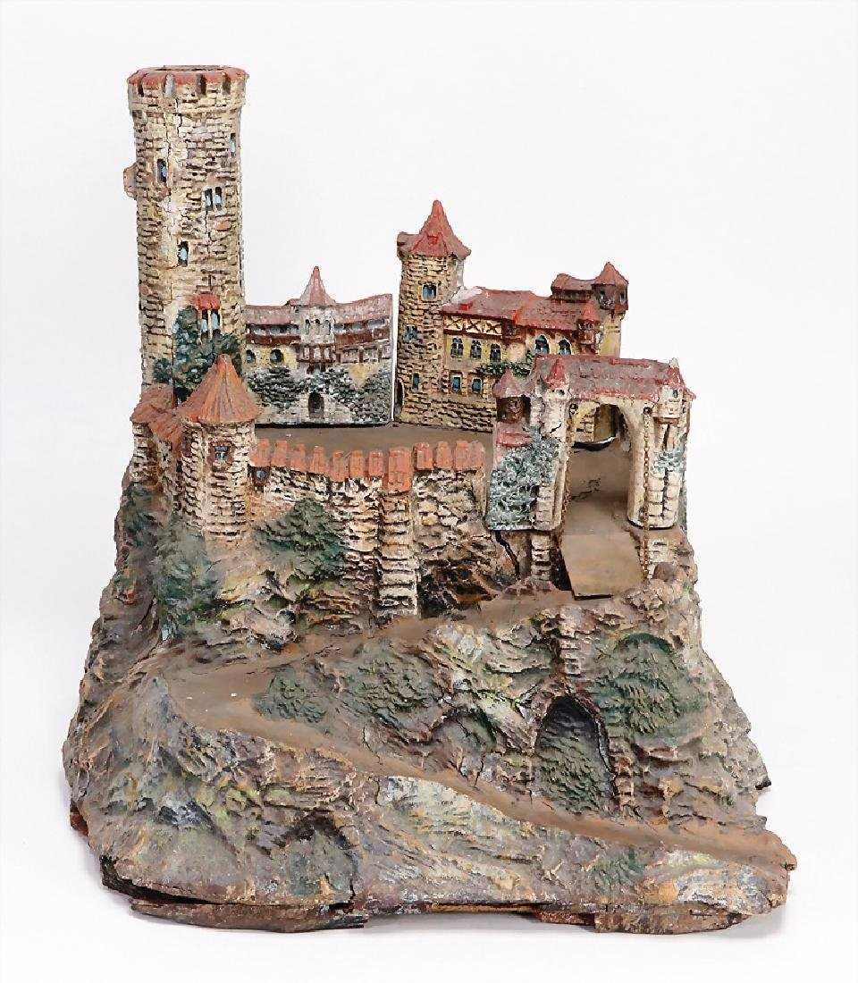 knight`s castle made of mass , height: 40.5 cm, with