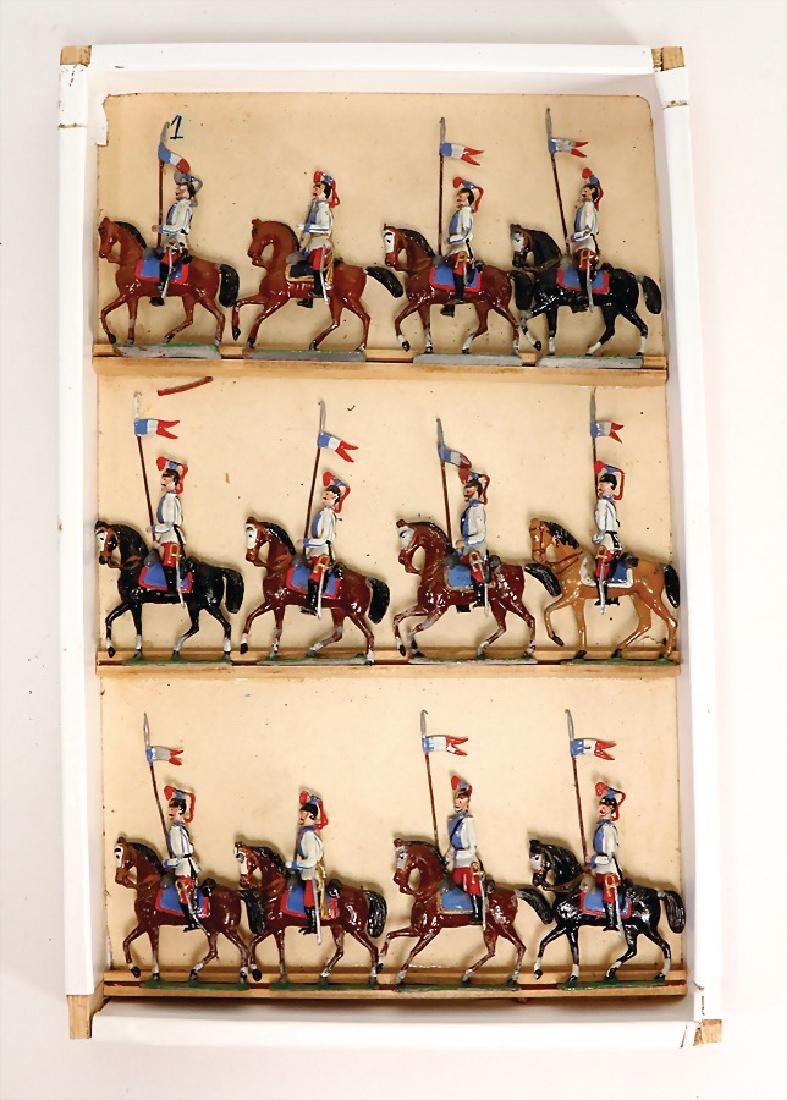 HEYDE tin composition figures, French cavalry, 5 cm,