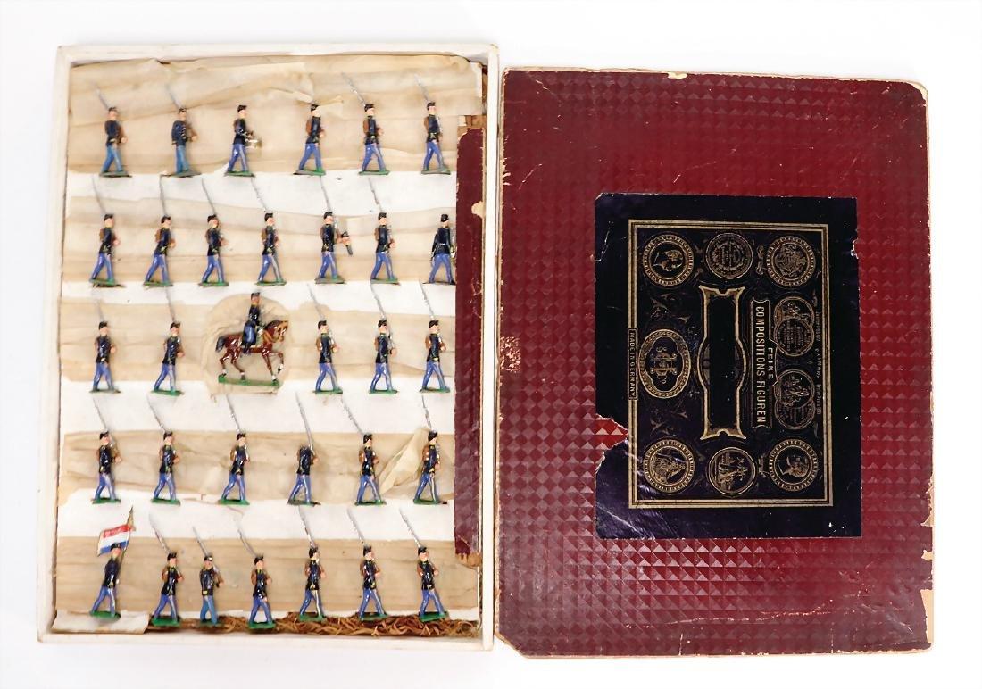 HEYDE tin composition figures, 5 cm, infantry,