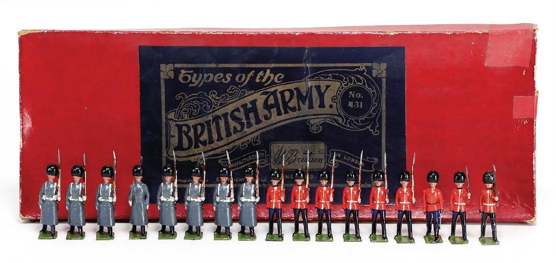 British Army, guards figures, casting, plastic, 6.5 cm,