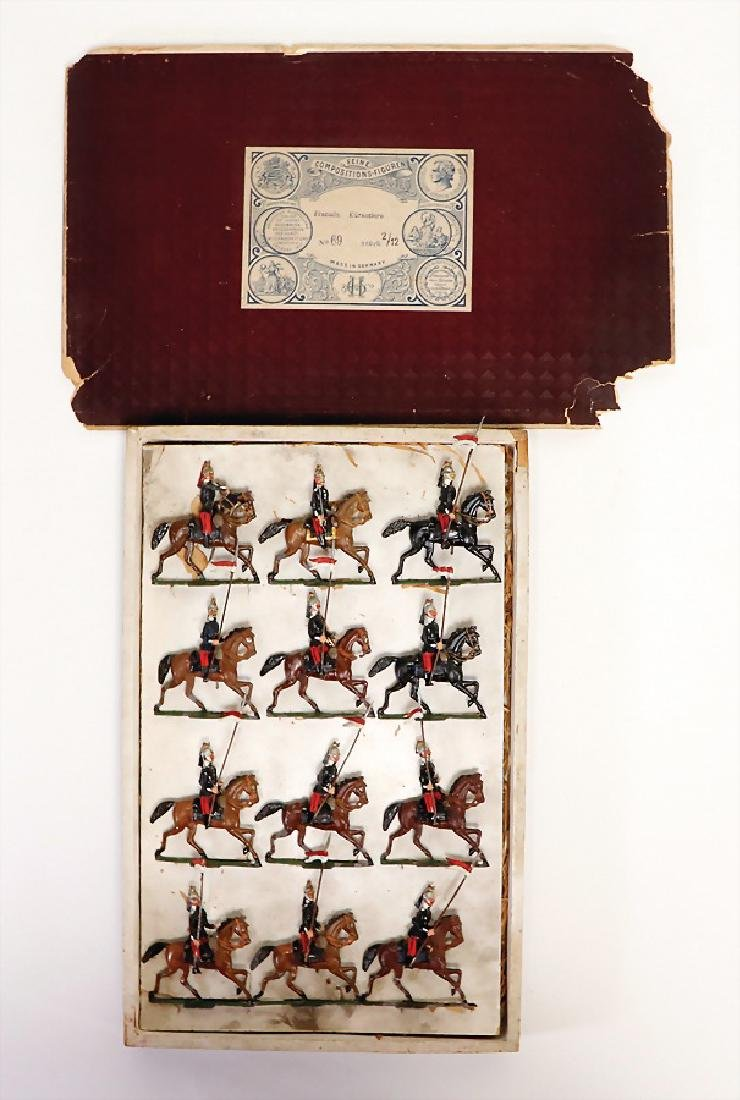 HEYDE tin composition figures, 5 cm, plastic, cavalry,