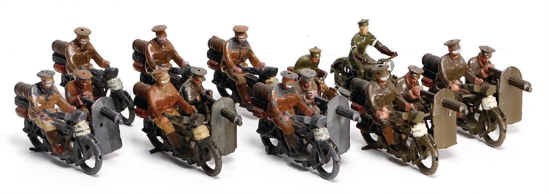 Britain, motorbikes, casting, 2 x sidecar motorbikes