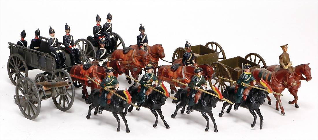 mixed lot Britain, 1 horse and cart with cannon, 1