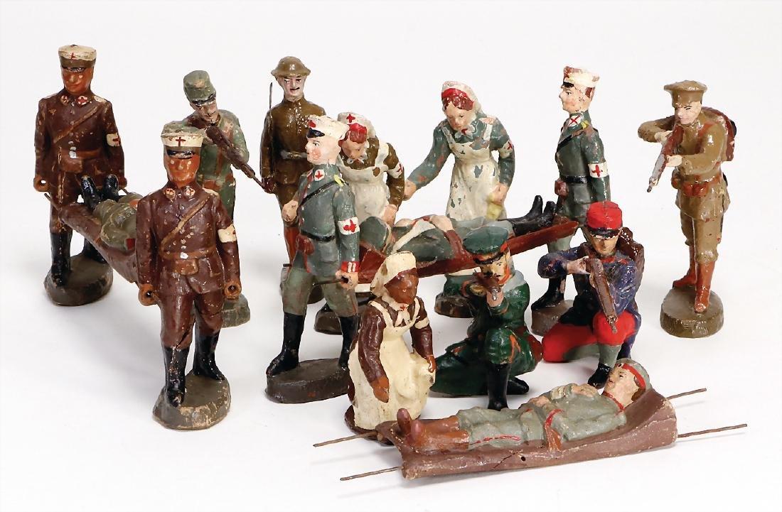 ELASTOLIN First World War, 10 cm, mass, 10 pieces,