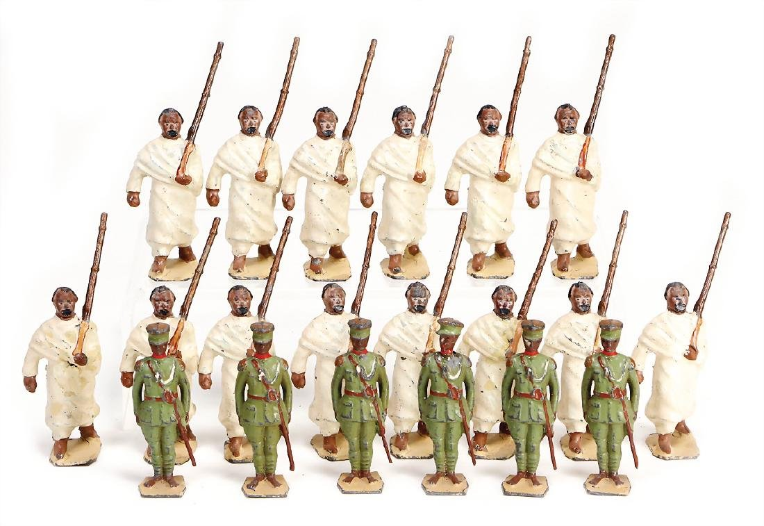 Britain, casting, 5.5 cm colored figures, marching,