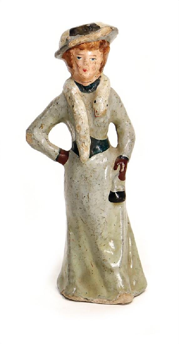 PFEIFFER rare figure, mass, lady with dress, ermine and