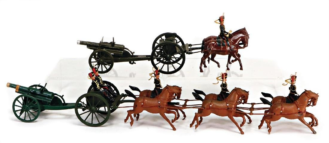 Britain, horse and cart with 6 horses and  cannon, 42