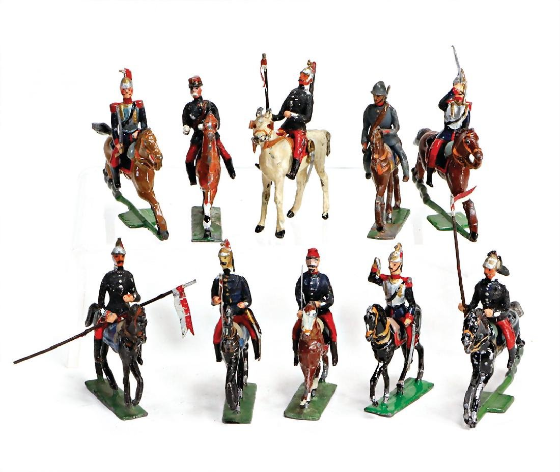 HEYDE cavalry, 10 pieces, suitable for 5.5 cm, mostly