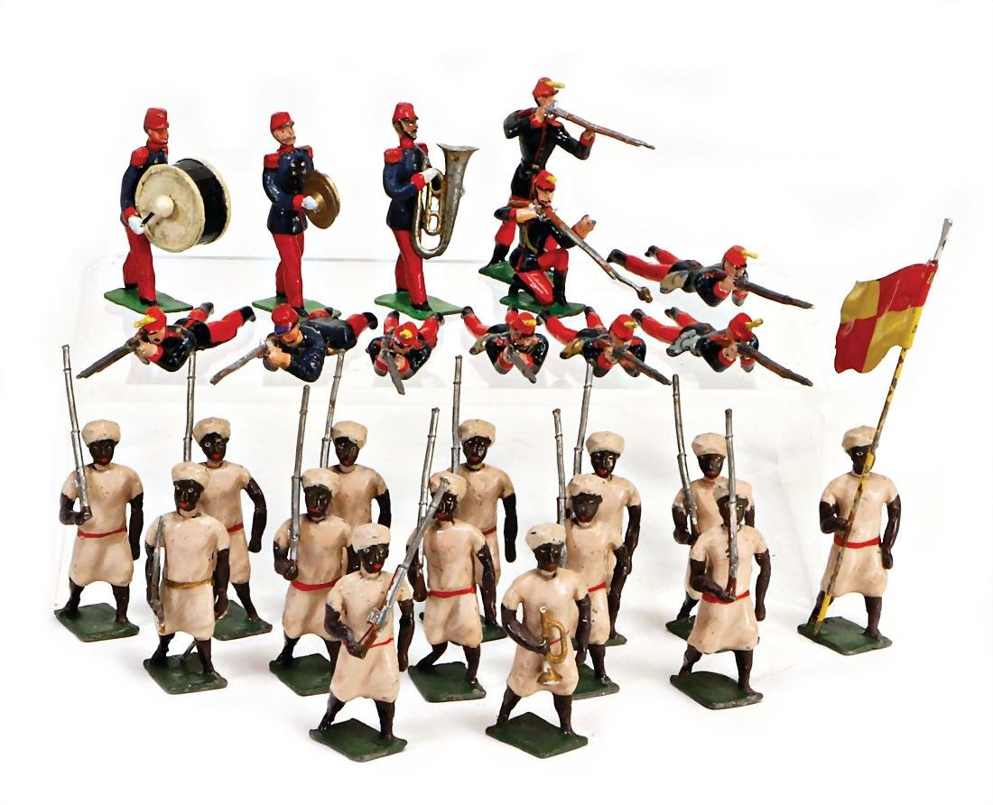 HEYDE Indian and  Frenchmen, 26 pieces, fighting, 1