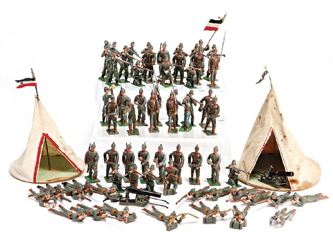 HEYDE tin composition figures, 5.5 cm, German infantry,