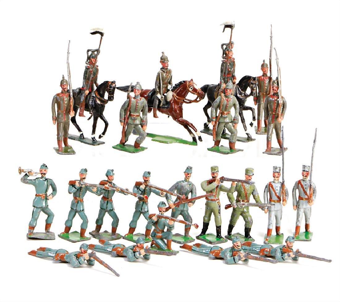HEYDE 3x cavalry, 19 pieces infantry, 5.5 cm, tin