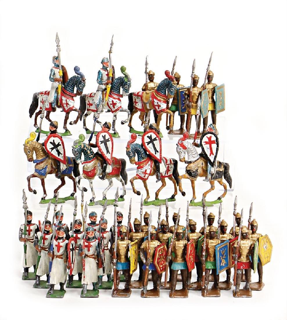 HEYDE 18 pieces Saracens, 6 crusaders on horseback, 1