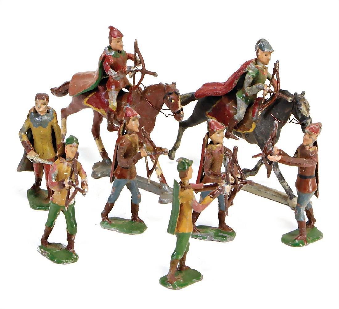 Robin Hood tin composition figures, 5 cm, plastic, 5