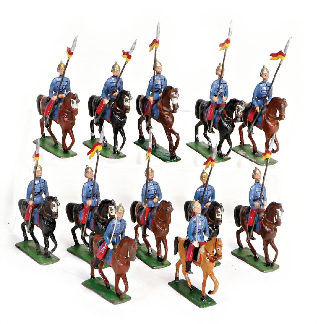 HEYDE 5 cm, plastic tin- composition figures, cavalry,