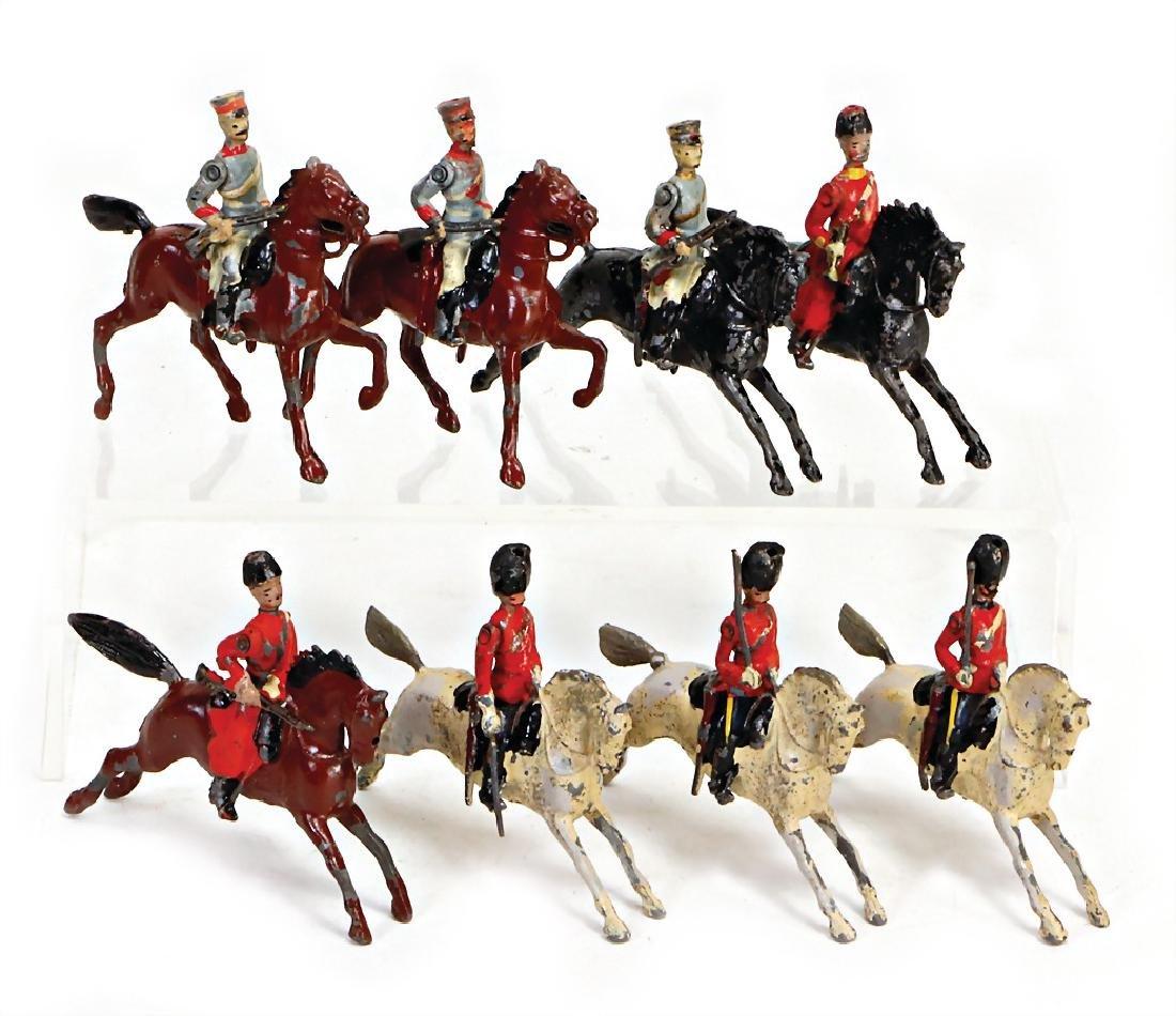 BRITAIN cavalry, 8 pieces, 4.5 cm, plastic casting