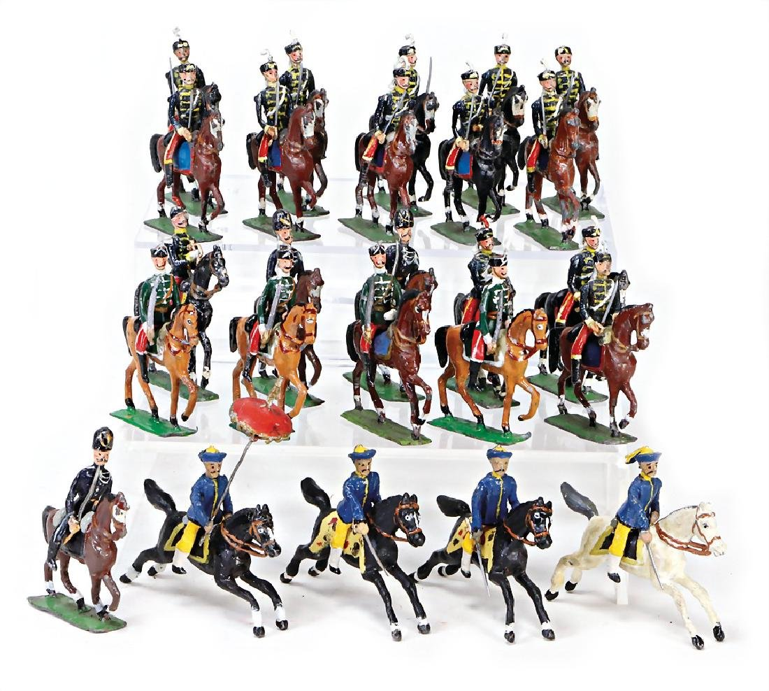 HEYDE 48 pieces hussar, Chineses, mostly condition 2,