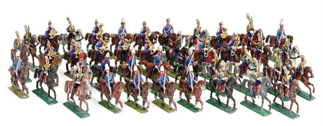 cavalry, plastic 3 cm figures, among them many