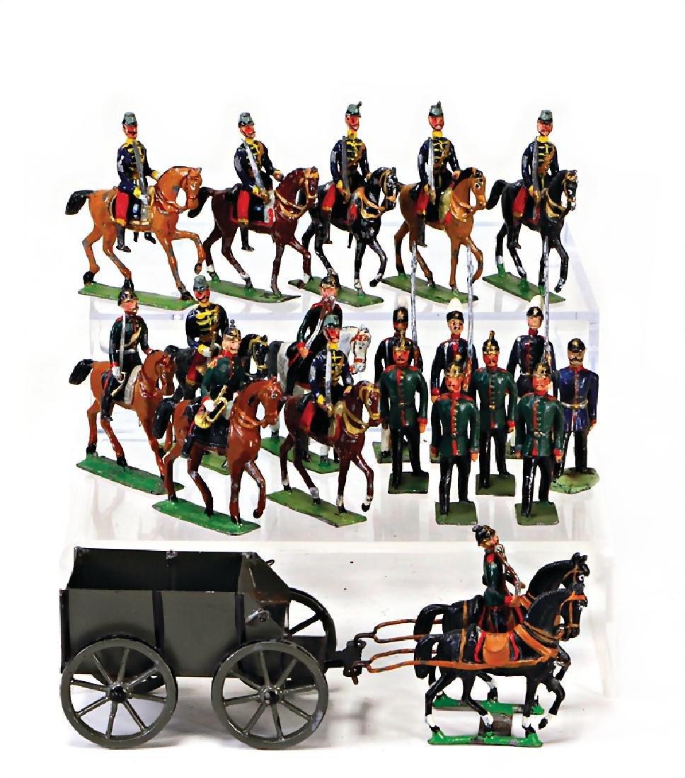 GEORG HEYDE 5.5 cm, plastic tin composition figures,