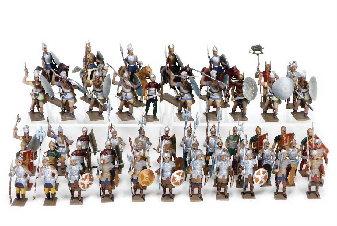 CBG MIGNOT plastic knigth figures, casting, 5.5/6 cm,