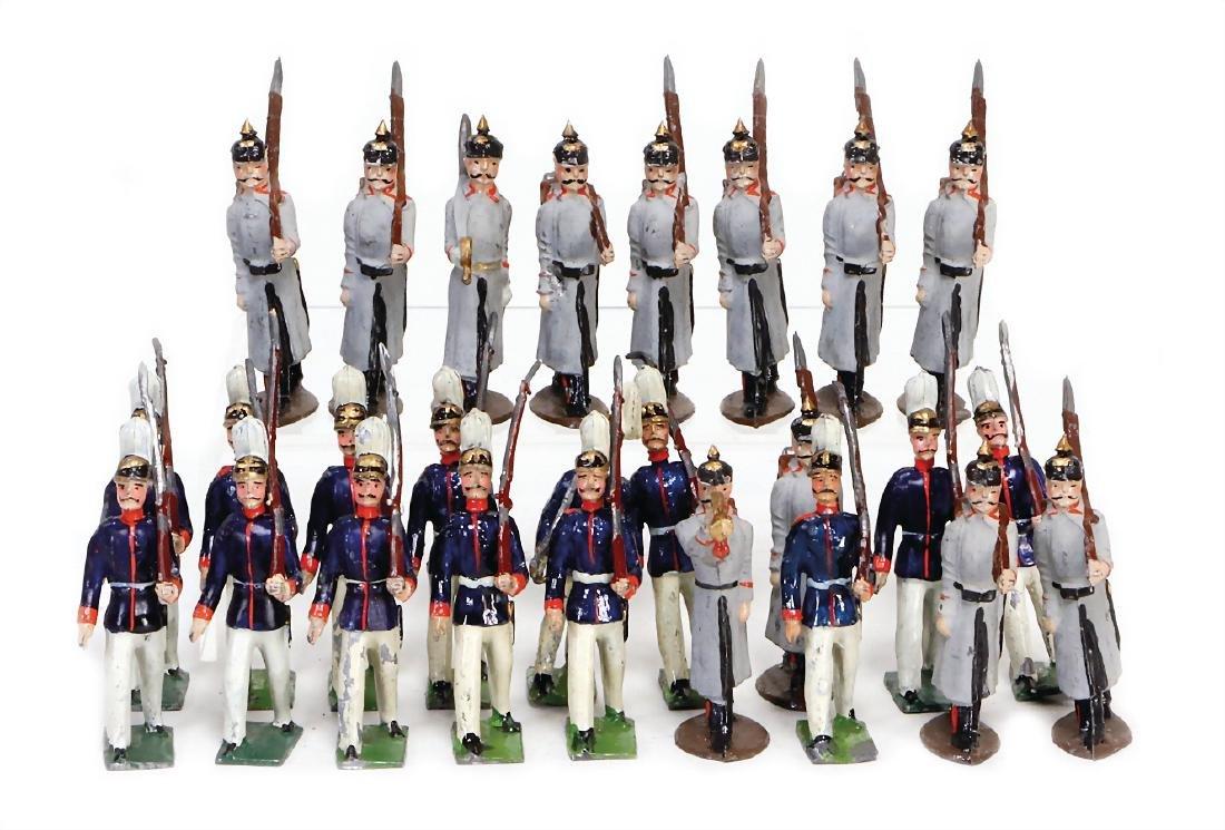 lot casting figures, World War I, 6.5 cm, 26 pieces,