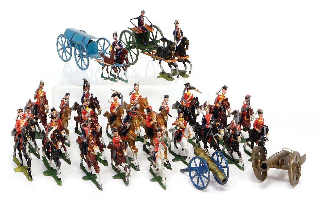 mixed lot of  cavalry, plastic, tin composition