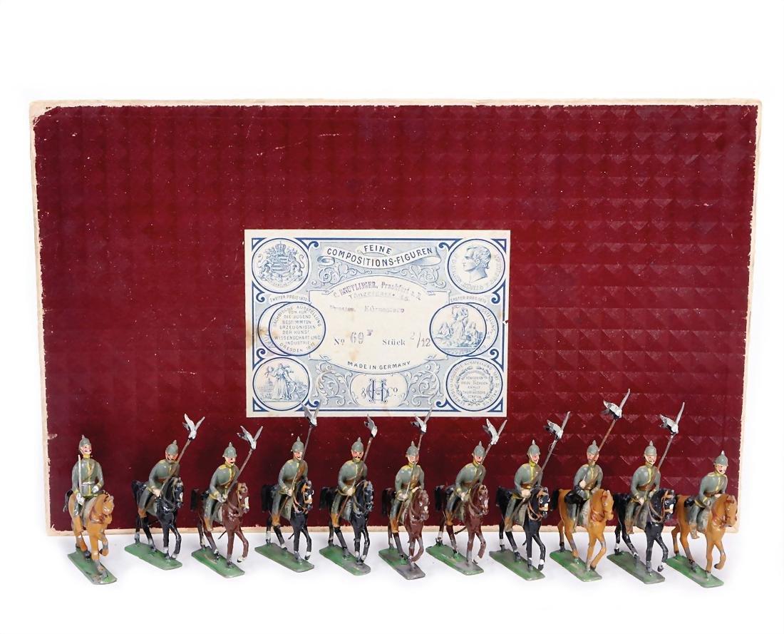 HEINRICHSEN fine tin composition figures, Prussian