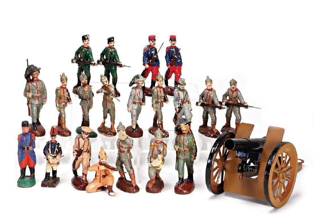 c. 25 pieces World War I, different manufacturers, mass
