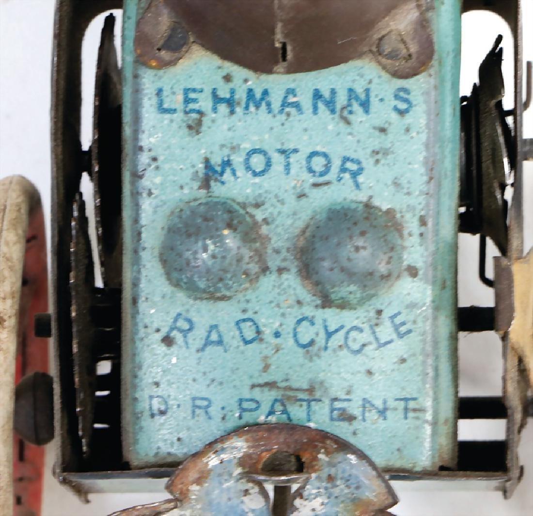 LEHMANN Motor Rad Cycle, lithographed sheet metal, - 2