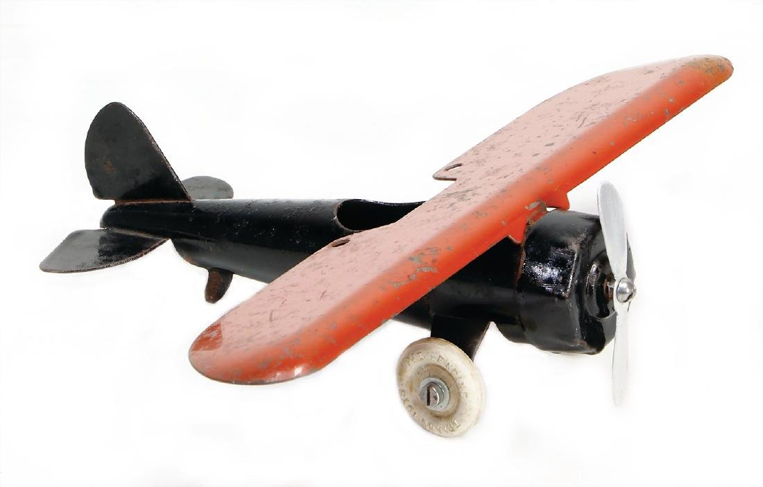 plane, Trian, Toys NG, heavy tin construction, 18cm,