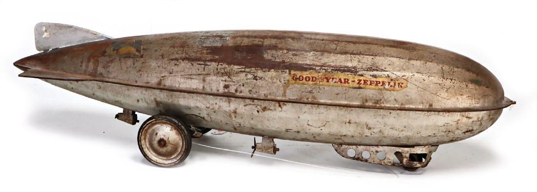 Good Year, zeppelin on rolls, 77 cm, heavy tin