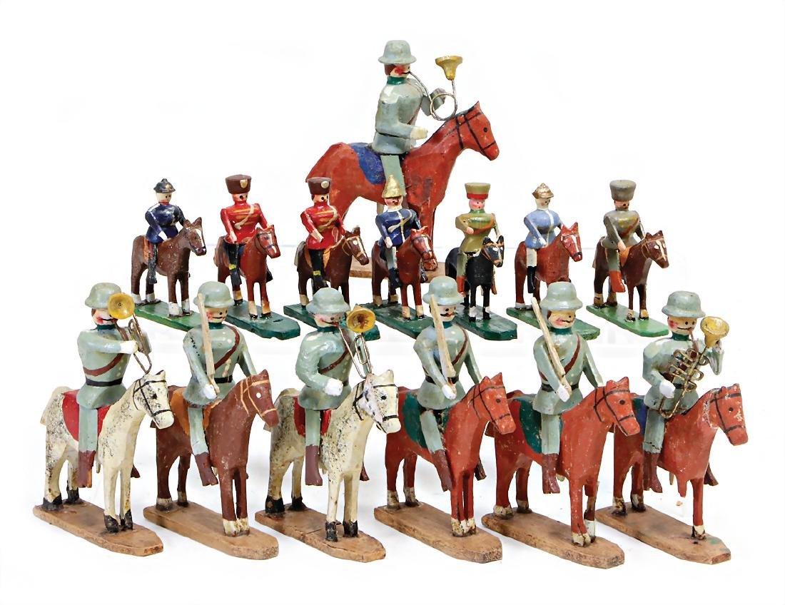 ERZGEBIRGE c. 20 pieces, cavalry, suitable for 3 cm and