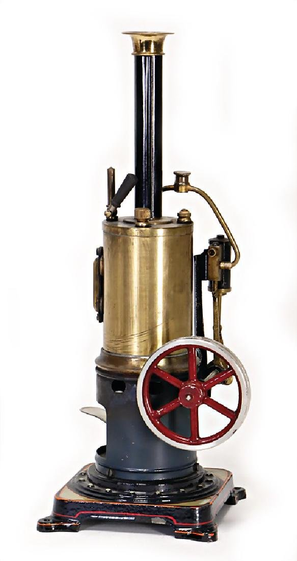 BING small standing steam engine, height: 31 cm, with