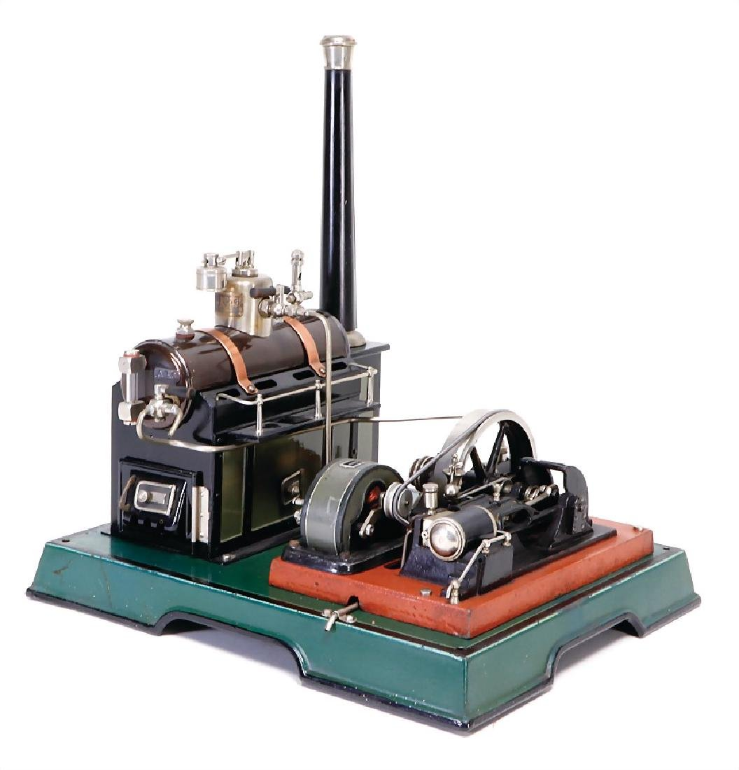 MÄRKLIN lying steam engine, surface area 29.5 x 33 cm,