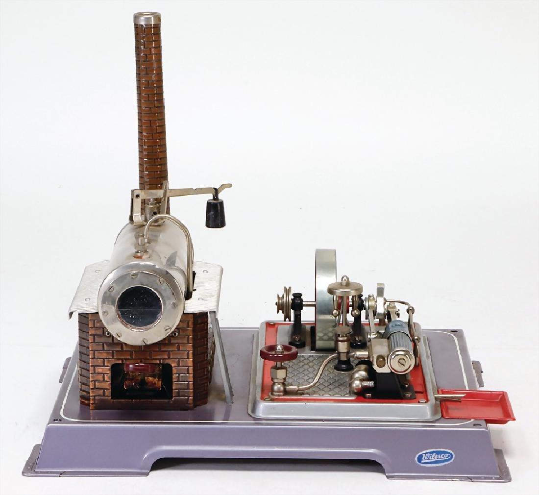 WILSECO steam engine, surface area 31 x 25 cm, with