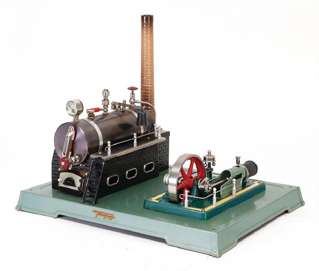FLEISCHMANN steam engine, lying boiler, surface area