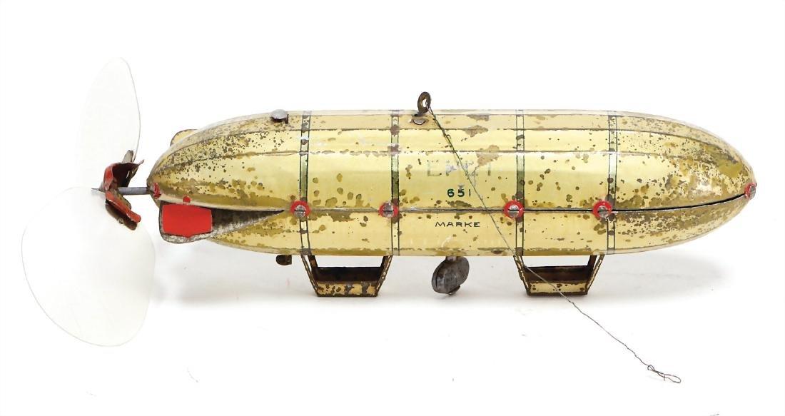 LEHMANN Epli 651, zeppelin, lithographed sheet metal,