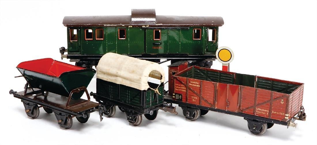 MÄRKLIN track 1, 1889, 4-axled baggage coach, used,