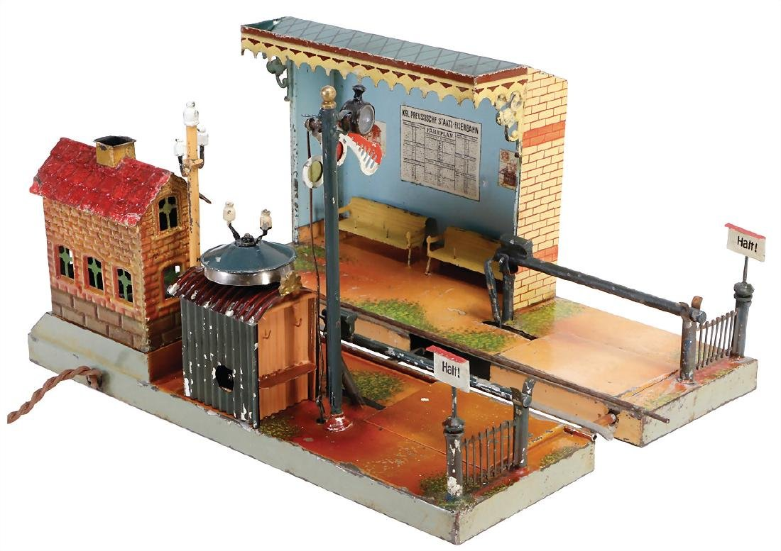 MÄRKLIN age-old, stop, with barrier, house for level