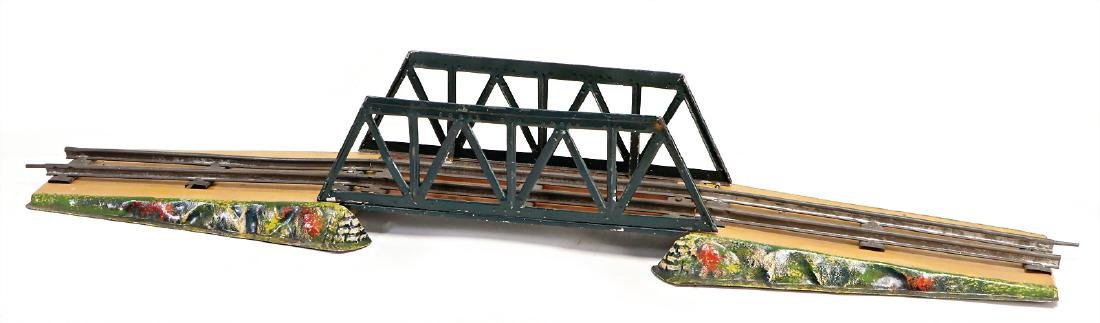 MÄRKLIN age-old, track 0, through truss bridge, with