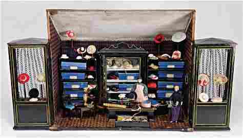 fashion shop, Biedermeier, 57 cm wide, 47.5 cm tall,